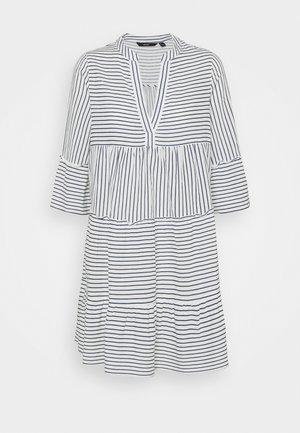 VMHELI 3/4  WVN GA COLOR - Day dress - snow white/navy blazer
