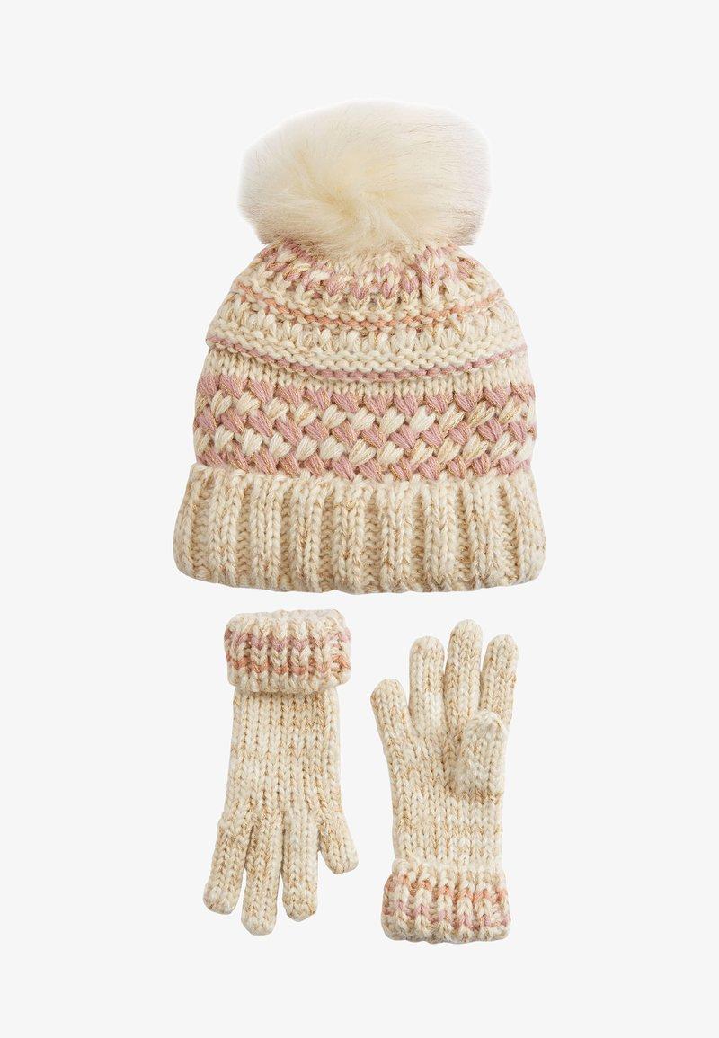 Next - METALLIC STITCH - Gloves - pink