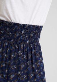 PEPPERCORN - SKIRT FLOWER PRINT - Maxi skirt - dark blue - 4