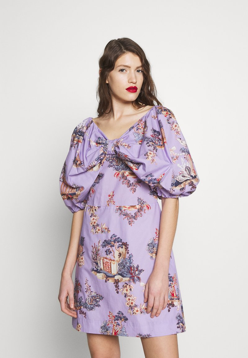 Vivetta - DRESS - Vestito estivo - fantasia fondo lilla