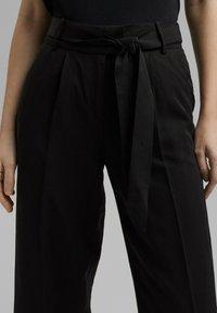 Esprit Collection - MIT BINDEGÜRTEL - Trousers - black - 3