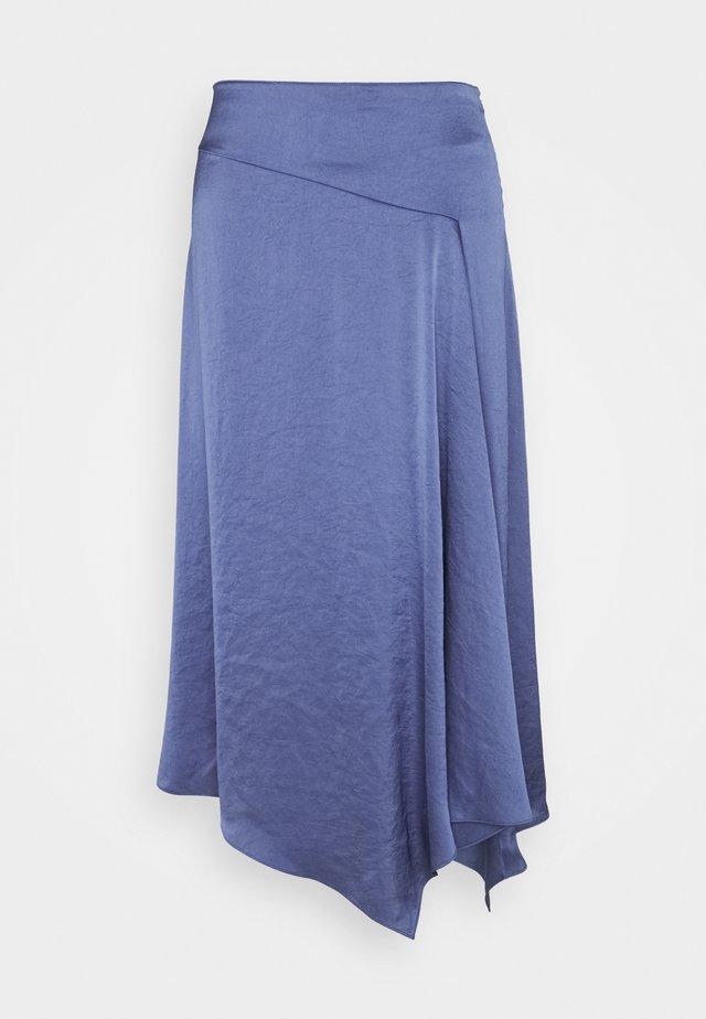 ASYM DRAPE SKIRTCRUSH - Áčková sukně - steel blue