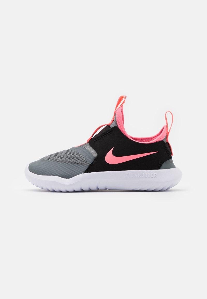 Nike Performance - FLEX RUNNER UNISEX - Neutral running shoes - smoke grey/sunset pulse/black/white