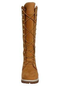 Timberland - Šněrovací vysoké boty - wheat nubuck - 3
