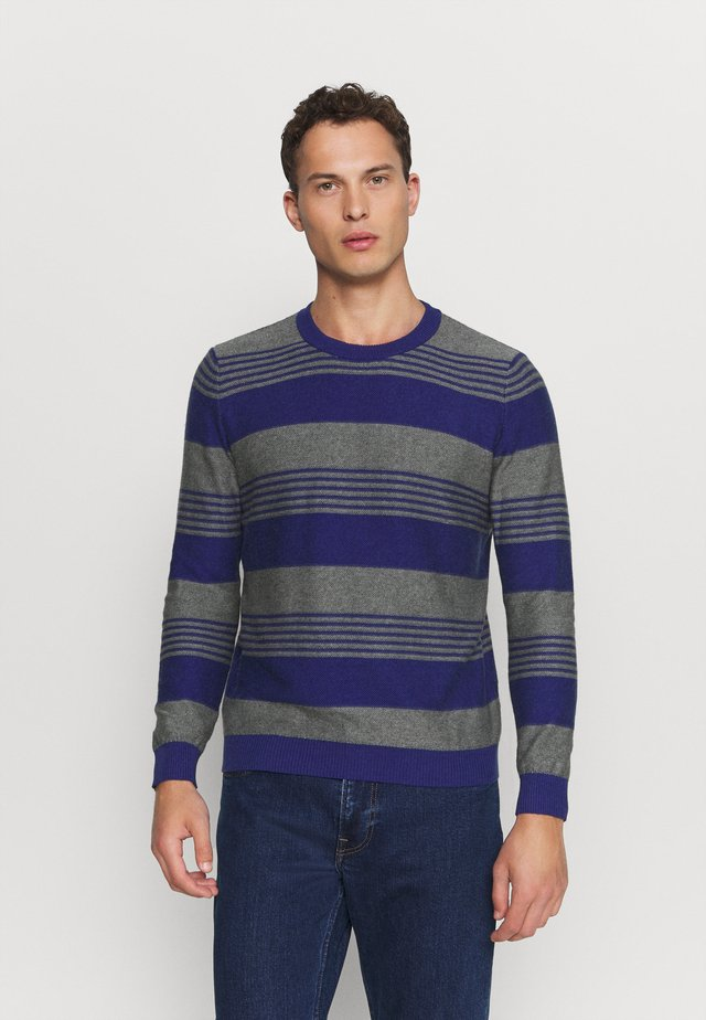 STRIPES - Jumper - blue