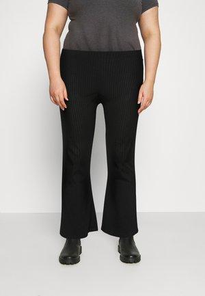 PCMOLLY  PANTS - Kalhoty - black