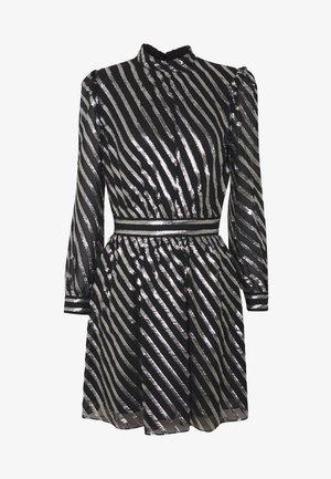 MOCK NECK - Vestito elegante - black/silver