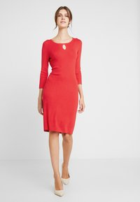 comma - DRESS SHORT - Strikket kjole - red - 2