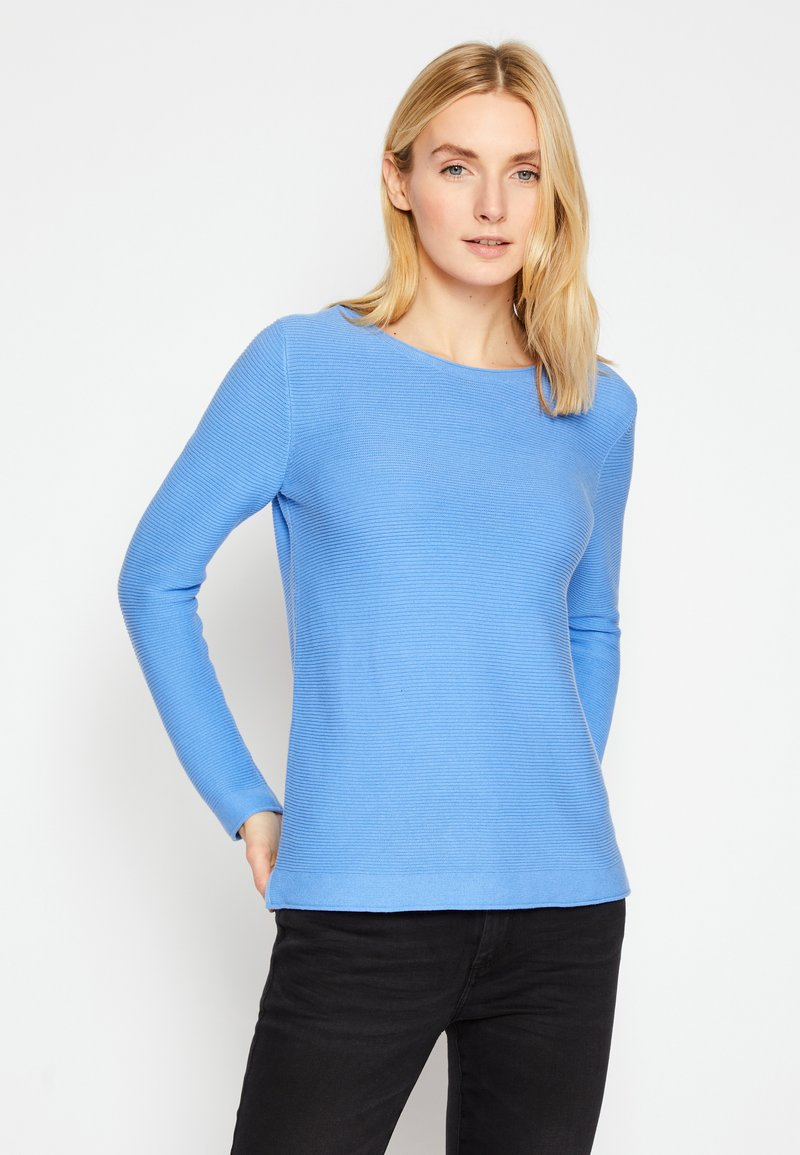 TOM TAILOR - SWEATER NEW OTTOMAN - Jumper - soft charming blue