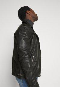 Goosecraft - BERLINER BIKER - Leather jacket - black - 3