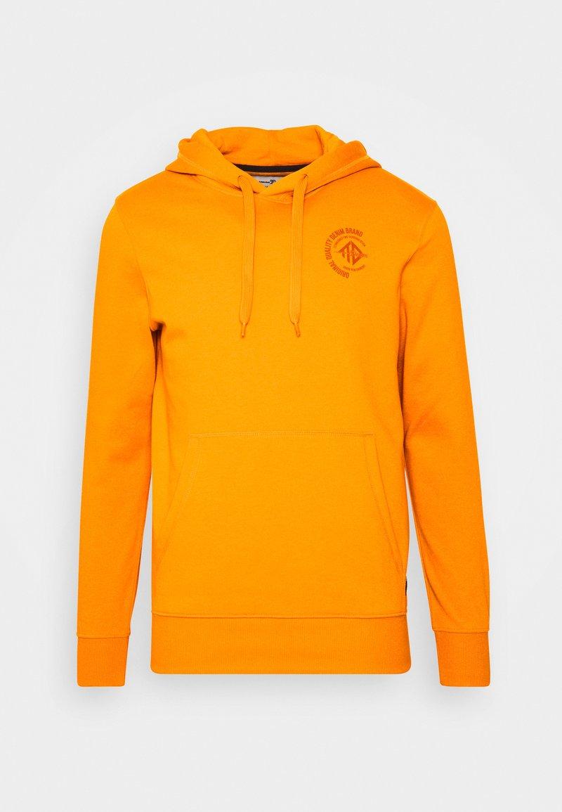 TOM TAILOR DENIM - HOODY CHEST PRINT - Hoodie - goldfish orange