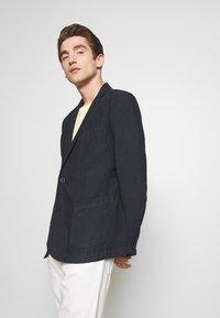 120% Lino - Blazer jacket - blue navy - 0