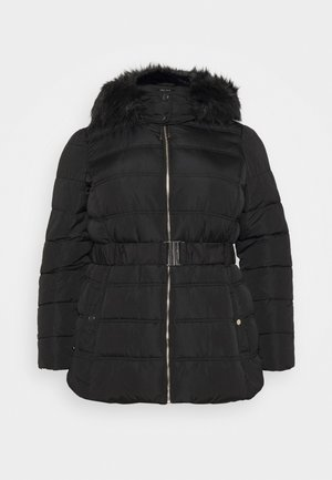 ELLIE BELTED FITTED PUFFER - Winter coat - black