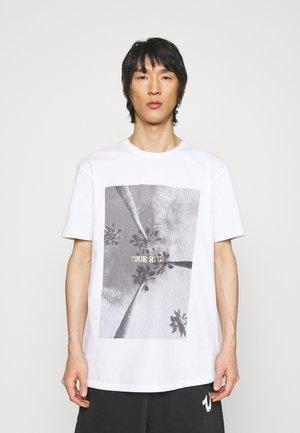 CREWNECK LOGO - T-shirt print - white