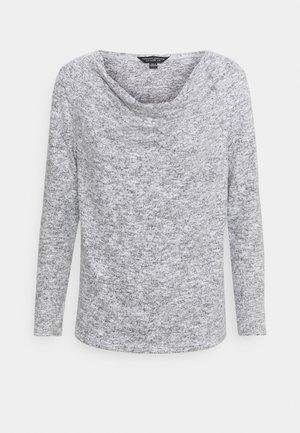 COWL NECK BRUSHED - Bluzka z długim rękawem - grey marl