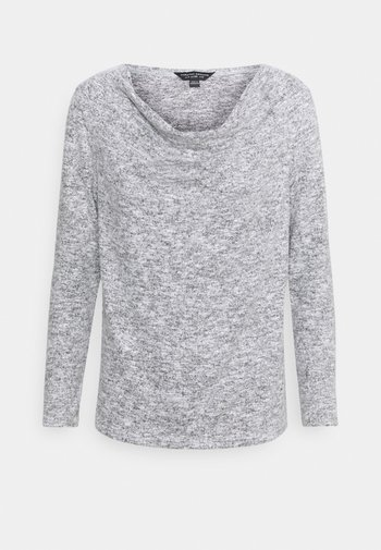 COWL NECK BRUSHED - Langarmshirt - grey marl