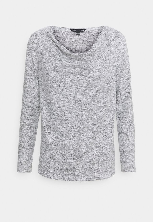 COWL NECK BRUSHED - Top s dlouhým rukávem - grey marl
