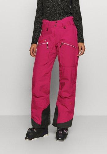 WOMENS BACKSIDE PANTS - Ski- & snowboardbukser - pink