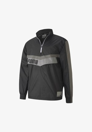 TRAIN ZIP JACKET - Windbreaker - black-ultra gray-puma white