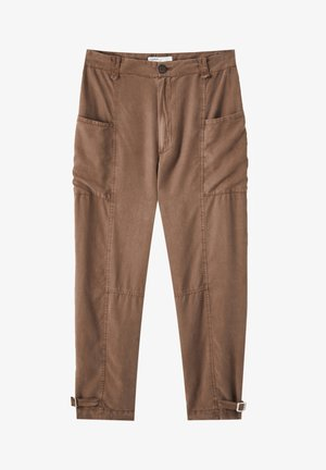 BRAUNE - Trousers - mottled light brown