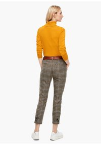 s.Oliver - Trousers - brown check - 2
