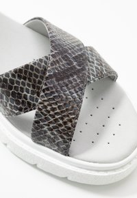 Geox - TAMAS - Platform sandals - dark grey/taupe - 2