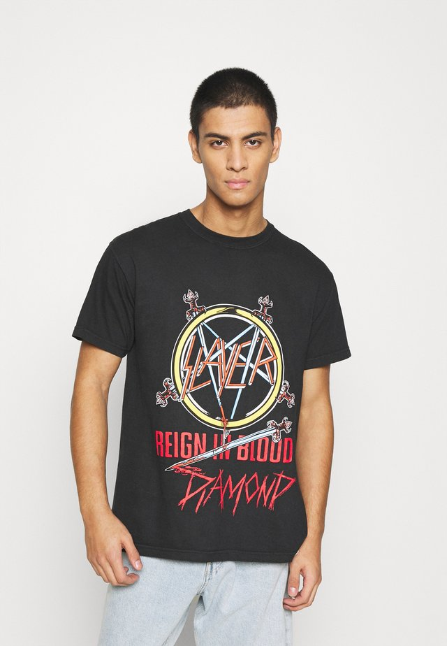 REIGN IN BLOOD TEE - Printtipaita - black
