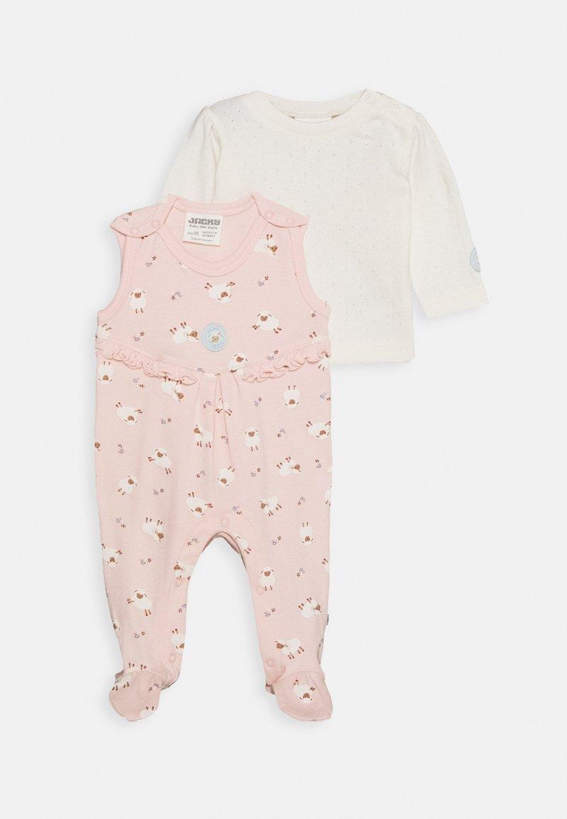 Jacky Baby - STRAMPLER FLUFFY & LOVELY SET - Jumpsuit - off-white