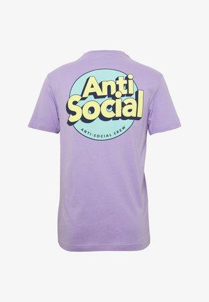 UNISEX ANTI SOCIA - T-shirt con stampa - lilac