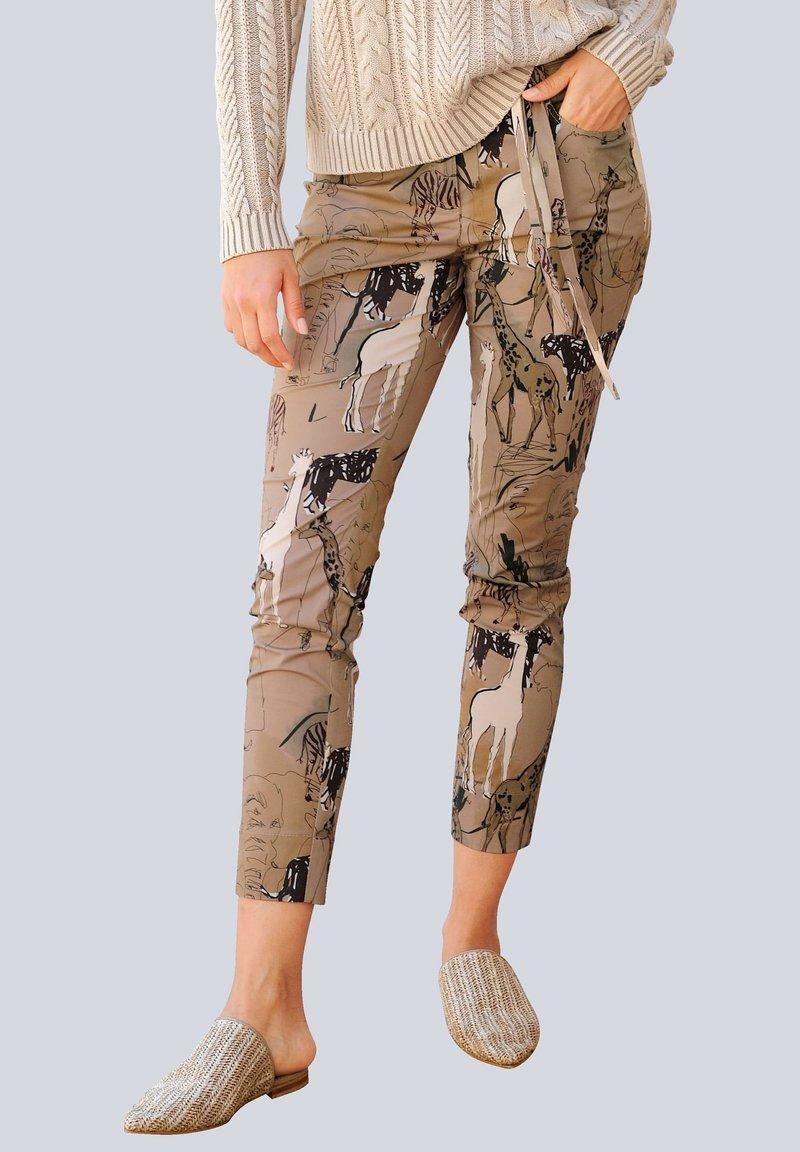Alba Moda - Trousers - beige,schwarz