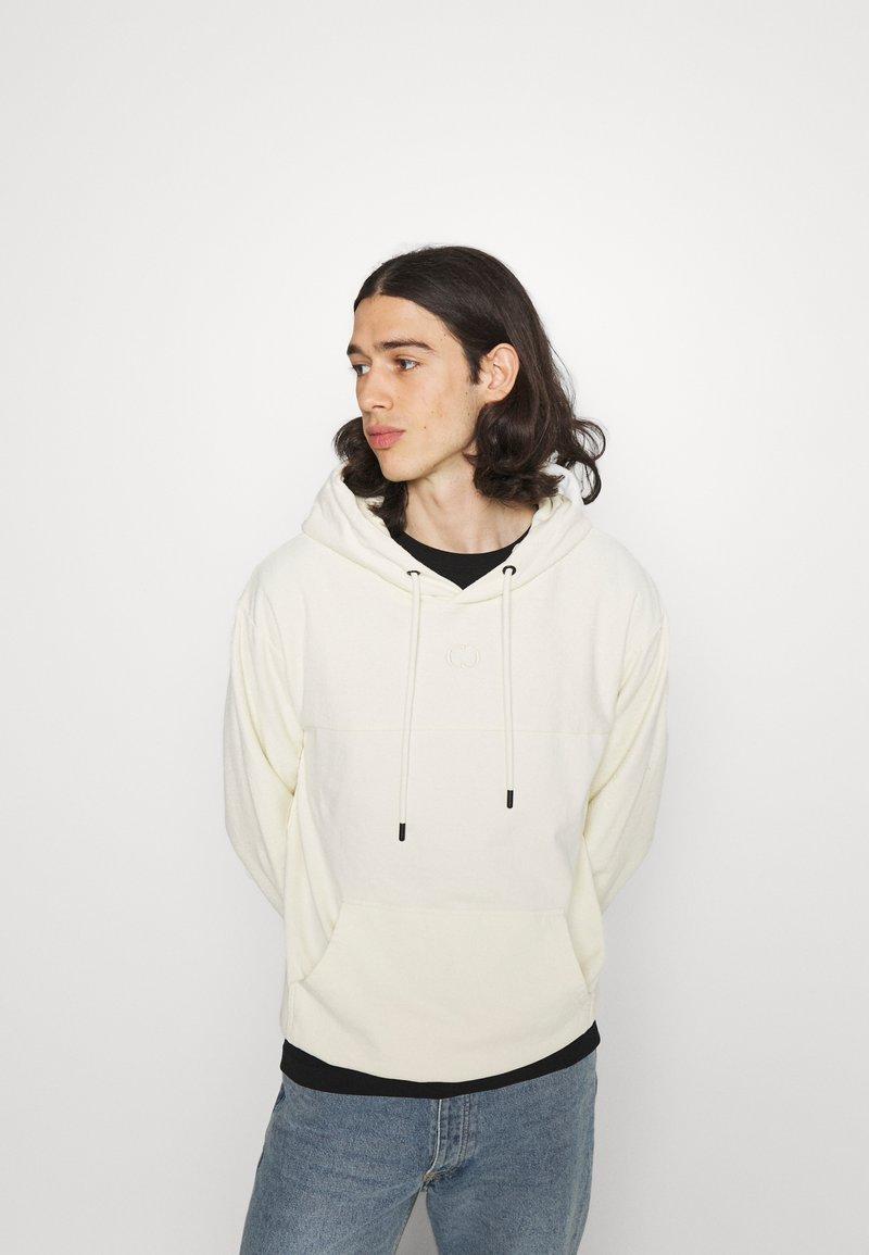 Criminal Damage - LOOPBACK HOOD - Sweater - beige