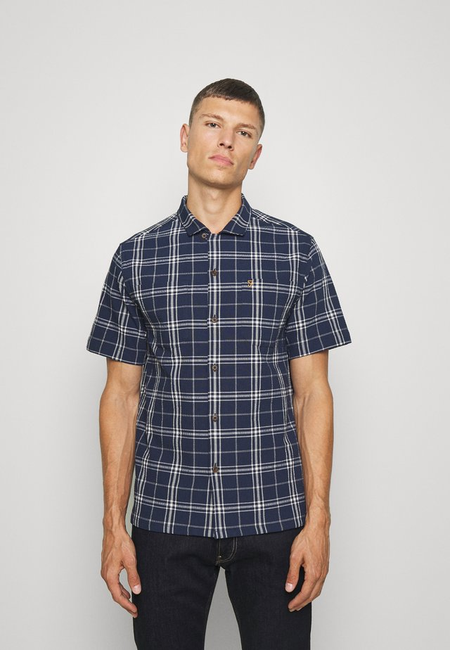 EMERSON SS CHECK - Shirt - dark blue