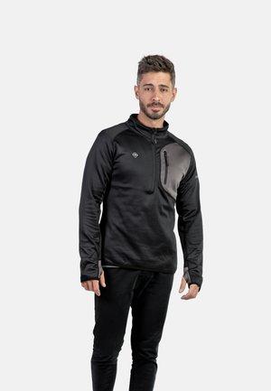 LALOC - T-shirt de sport - black/dark grey