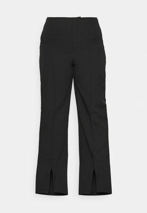 OVERSIZED SPLIT FRONT - Trousers - black