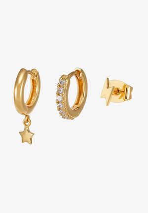 LIGHTNING AND STAR EAR PARTY 3 PACK - Oorbellen - gold-coloured