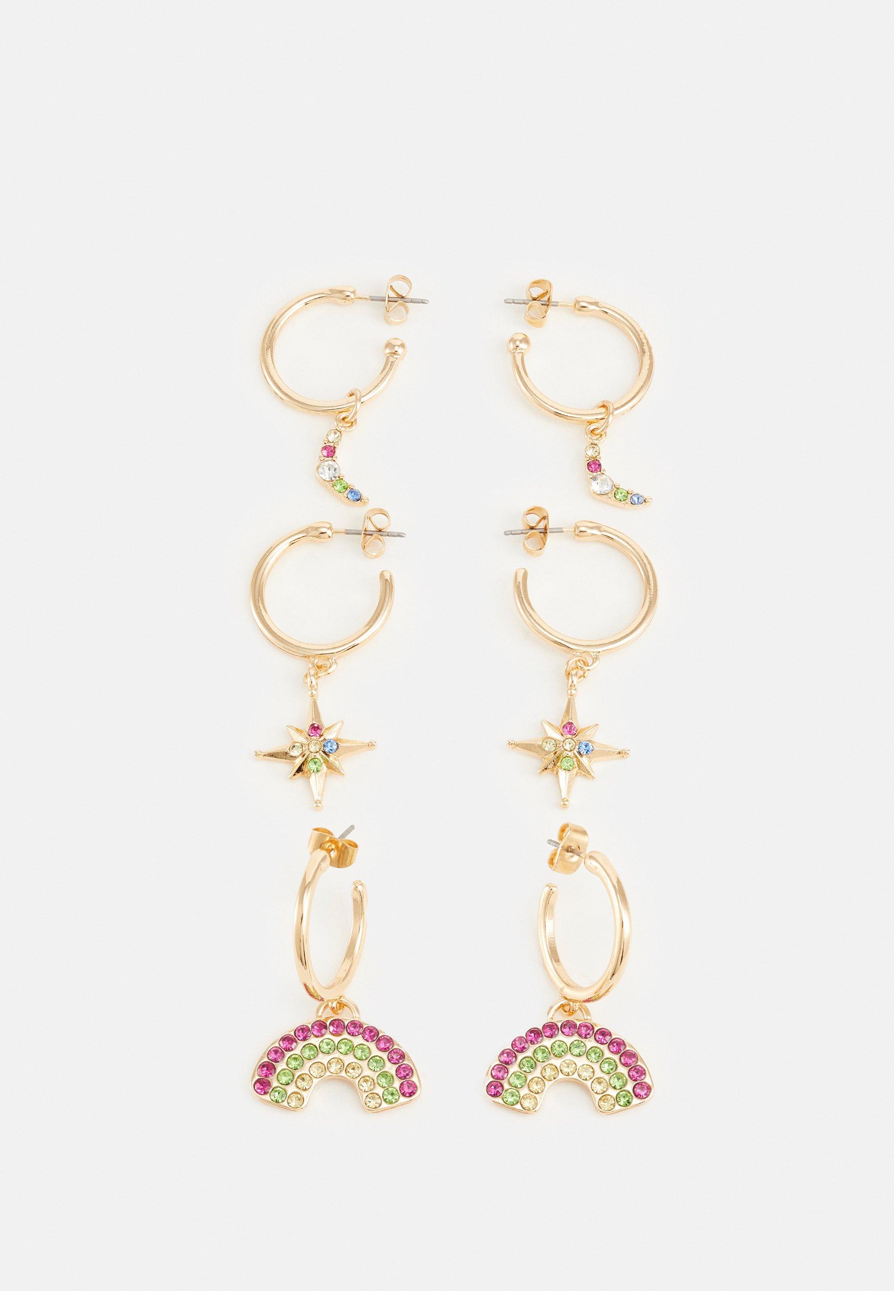 Women PCMOONIA EARRINGS 3 PACK - Earrings