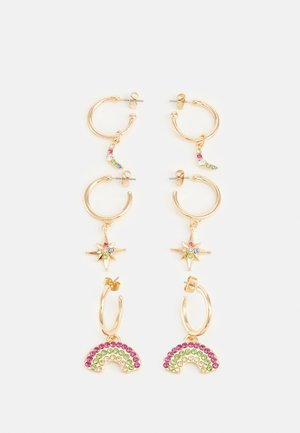 PCMOONIA EARRINGS 3 PACK - Boucles d'oreilles - gold-coloured