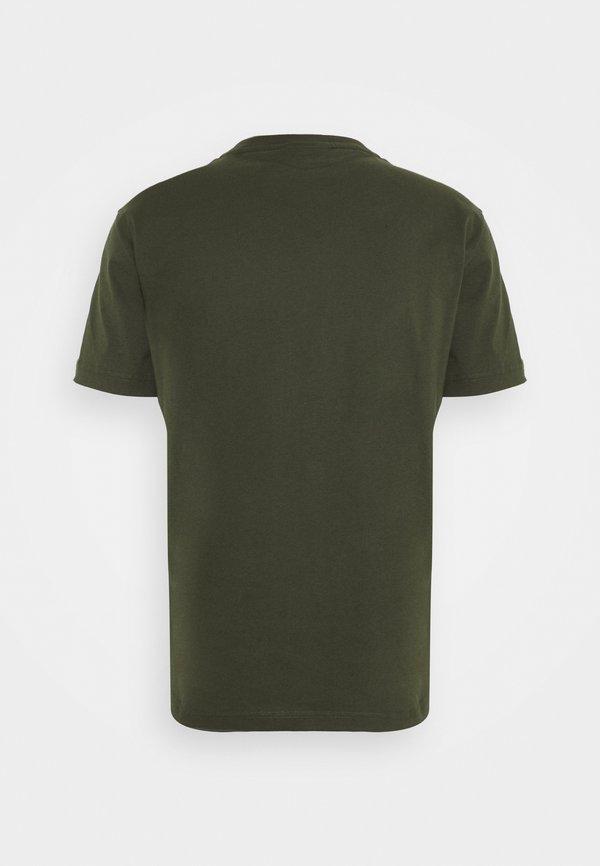 Calvin Klein CHEST LOGO - T-shirt basic - dark olive/oliwkowy Odzież Męska MPDE