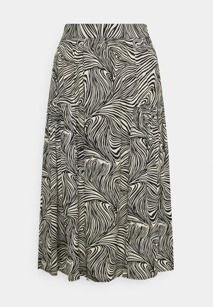 VMGEA CALF SKIRT - A-line skirt - black