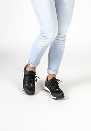 Trainers - black/coral