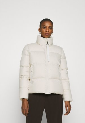 PUFFER JACKET SHORT STAND UP COLLAR ZIPP - Gewatteerde jas - birch white
