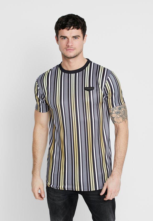 PIN - T-shirts med print - black/gold