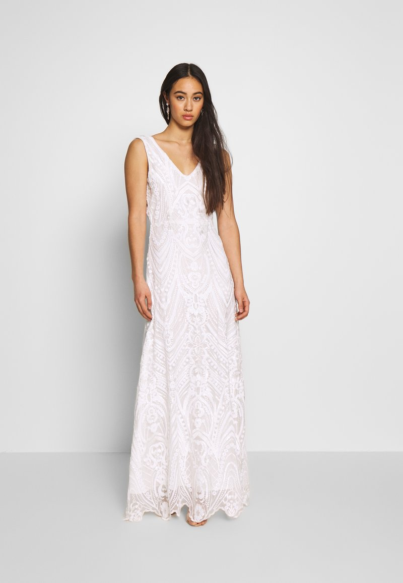 YAS - YASSAVANNAH DRESS CELEB - Maxi dress - star white