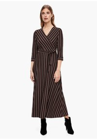 s.Oliver BLACK LABEL - Maxi dress - brown stripes - 0