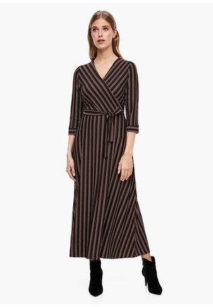 Maxi dress - brown stripes