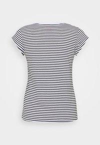 Mads Nørgaard - ORGANIC FAVORITE STRIPE TEASY - Print T-shirt - white/black - 6