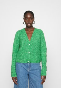 Custommade - VALDINE - Cardigan - jolly green - 0