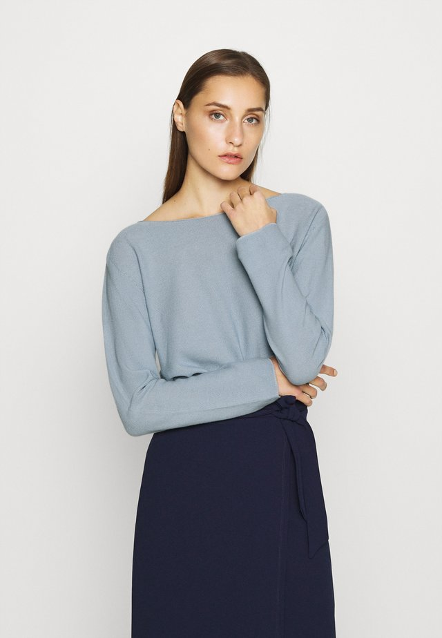 BOAT NECK SEAMLESS - Maglione - dove blue