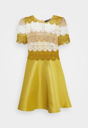 MINI MULTI CROCHET - Day dress - yellow