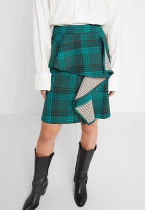 A-line skirt - multicolour green